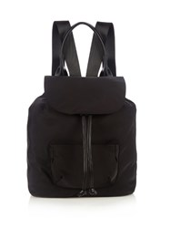 Elizabeth And James Langley Leather Trim Nylon Backpack Black