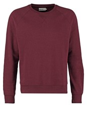 Pier One Sweatshirt Bordeaux Melange Mottled Bordeaux