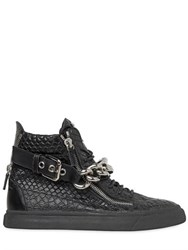 Giuseppe Zanotti Chain Bangle Embossed High Top Sneakers