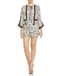 Twelfth St. By Cynthia Vincent Twelfth Street By Cynthia Vincent Lace Inset Romper