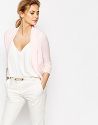 Ted Baker Woven Front Wrap Cardigan Baby Pink