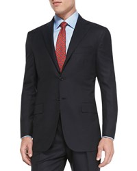Kiton Solid Two Piece Suit Navy