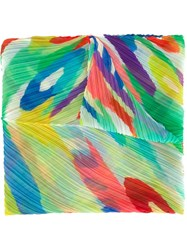 Pleats Please By Issey Miyake Printed Pleated Scarf Multicolour