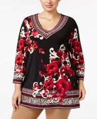 Jm Collection Plus Size Embellished Floral Print Tunic Only At Macy's Grand Opera