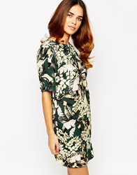 Warehouse Cocoon Printed Dress Multi