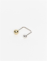 Piece A Conviction Asymmetrical Brass Silver Ring 8Mm 6Mm