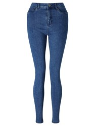 John Lewis Denim Jeggings Mid Wash Indigo