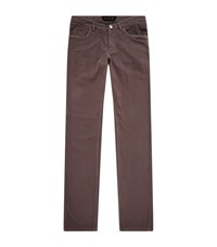 Zilli Slim Fit Corduroy Jeans Male Taupe