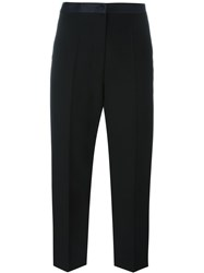 Alexander Wang Cropped Straight Leg Trousers Black