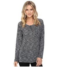Brigitte Bailey Heathered Long Sleeve Top Heather Grey Women's Clothing Gray