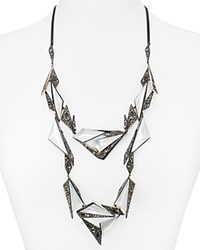 Alexis Bittar Bitter Triangle Origami Bib Necklace 21 Silver