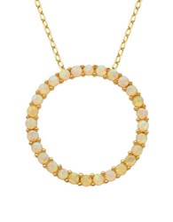 Lord And Taylor Opal Open Circle Pendant Necklace Gold
