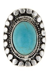 Stephan And Co Stone Ring Size 7 Blue