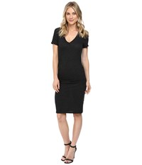 Lanston Ruched T Shirt Dress Black Women's Dress