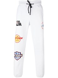 Gcds Patched Drawstring Joggers White