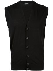 Ermenegildo Zegna Sleeveless Cardigan Black