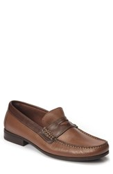 Sandro Moscoloni Men's Trento Penny Loafer Brown Leather
