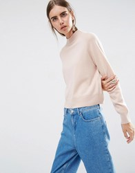 Asos White 100 Cashmere Turtle Neck Jumper Nude Cream
