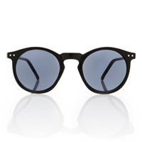 Omalley Sunglasses Round Black Frame Smoke By Americandeadstock