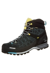Salewa Mtn Trainer Mid Gtx Walking Boots Carbon Turquise Black