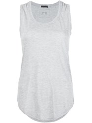Atm Anthony Thomas Melillo Scoop Neck Tank Top Grey