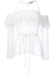 Manning Cartell Frill Lace Blouse White