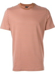 Ps Paul Smith Striped T Shirt Yellow And Orange