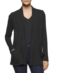 Calvin Klein Jeans Ribbed Open Front Cardigan Black