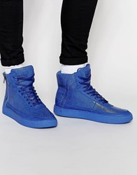 Criminal Damage Python Mid Trainers Blue