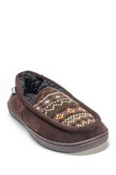 Muk Luks Henry Faux Fur Slipper Brown