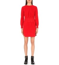 Maje Rabatour Corduroy Dress Red