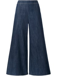 Adam By Adam Lippes Wide Leg Trousers Blue