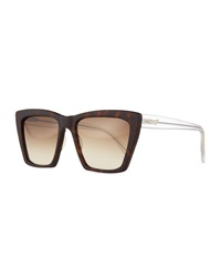 Sydney Square Cat Eye Sunglasses Prism