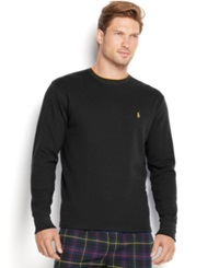 Polo Ralph Lauren Men's Tipped Thermal Crew Neck Shirt Polo Black