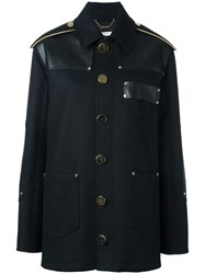 Givenchy Panelled Felted Wool Coat Black