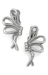 Oscar De La Renta Women's Bow Clip Earrings Silver