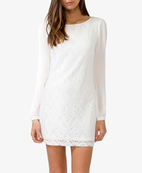 Forever 21 Contemporary Sheer Sleeve Lace Dress