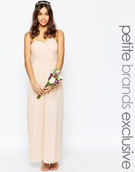 Tfnc Petite Wedding Bandeau Chiffon Maxi Dress Pink