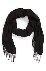 Nordstrom Tissue Weight Wool And Cashmere Scarf Black