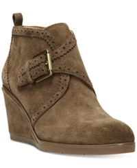 Franco Sarto Arielle Wedge Booties Women's Shoes Khaki