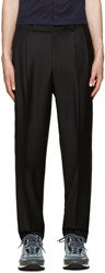 Paul Smith Black Wool Pleated Trousers