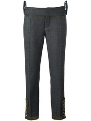 Dsquared2 'Livery Tenent' Cropped Trousers Grey