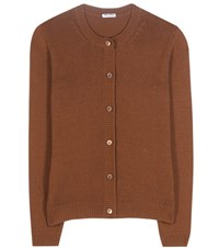 Miu Miu Cashmere Cardigan Brown