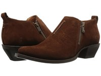 Frye Sacha Moto Shootie Brown Oiled Suede Women's Pull On Boots