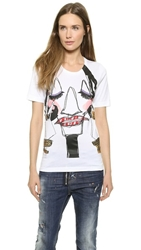 Dsquared Face Graphic Tee White