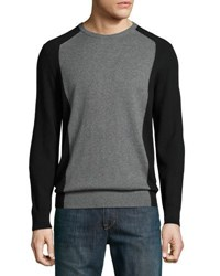 Michael Kors Crewneck Long Sleeve Colorblock Sweater Black