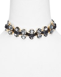 Aqua Ivy Double Row Choker Necklace 11 Black