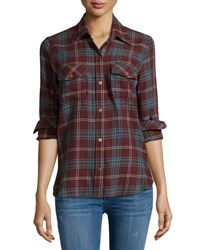 Current Elliott The Perfect Long Sleeve Shirt Lincoln Plaid