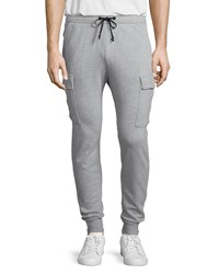 Hudson Jeans Rush Cargo Pocket Sweatpants Light Gray Light Grey