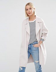 Selected Kaia Throw On Wool Coat Cream